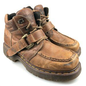 Dr. Martens Mens Leather Brown Work Boots Size 11